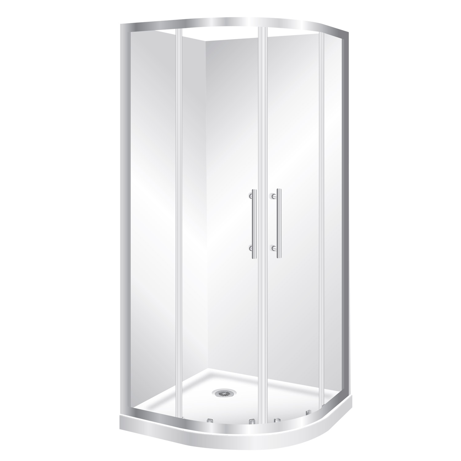 rounded corner showers