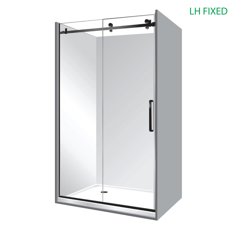 Black Premier Frameless Shower 1200 215 900 Symphony Showers
